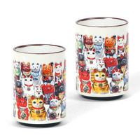 Miya: Fortune Cat Teacup Set Of 2, at 35% off!