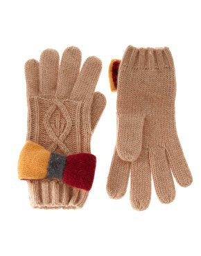 Alice Hannah | Alice Hannah Luxury Cable Preppy Bow Gloves at ASOS