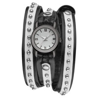 Leather Wrap Watch With Rivet on Luulla