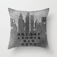 Bright Lights Big City Throw Pillow by Ally Coxon | Society6 FREE SHIPPING PROMO - follow the linkhttp://society6.com/AllyCoxon?promo=c4721d