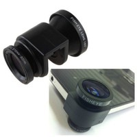 3-in-1 Fisheye Lens/ Wide Angle/ Micro Lens Photo Kit Set for iPhone 5 - New iPhone