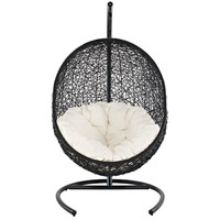 LexMod Encase Rattan Outdoor Patio Swing Chair, Suspension Series