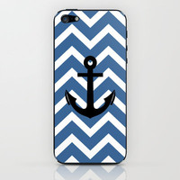 Slate Chevron Anchor iPhone &amp; iPod Skin by Rex Lambo | Society6
