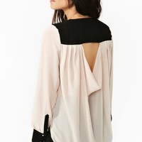 Trimmed Cutout Blouse