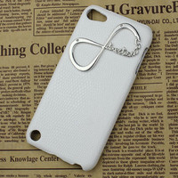 White Hard Case Cover With One Direction &quot;Directioner&quot; Infinity for Apple Ipod Touch 5, iPod Touch 5th,iTouch 5,iPod Touch 5