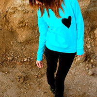 "The ""Dazzle Pocket"" Sweatshirt - ""New Color"" - w/Heart Chest Pocket"