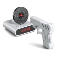 Amazon.com: Gun O'Clock Shooting Alarm clock (White): Home & Kitchen