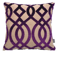 Heal's | Heal's Osborne & Little Du Barry Trellis Purple Cushion > Cushions