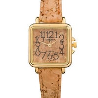 American Apparel - Luxury Ladies Cork Analog Wristwatch
