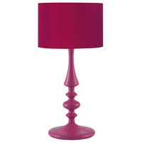 Heal's | Brights Hot Pink Turned Wood Table Lamp > Table Lamps