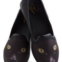 Feline Fortunate Flats | Mod Retro Vintage Flats | ModCloth.com