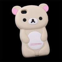 Rilakkuma Bear Silicone Case Cover for iPhone 4 4S 4G