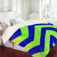 DENY Designs Home Accessories | Sophia Buddenhagen Blue Green Chevron Duvet Cover