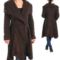 Amazon.com: G2 Fashion Square Big Collar Pappie Coat(OW-JKT,BRN-S): Clothing