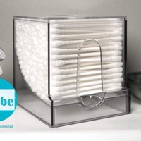 QubeTM Cotton Swab Dispenser by WalterDrake