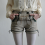 Later Hosen Vintage Lederhosen Suede Hot Pants by VeraVague