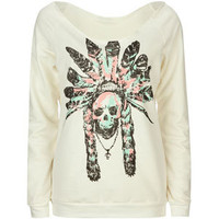 FULL TILT Skull Chief Womens Sweatshirt 210377151 | Sweatshirts &amp; Hoodies | Tillys.com