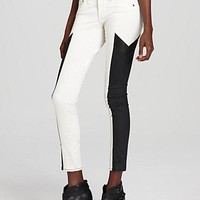 rag &amp; bone/JEAN Leggings - Grand Prix Motocross Panelled Leggings in Winter White | Bloomingdale&#x27;s