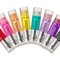 (3 Pack) Vitamin Water Vitaminwater Vitaminschtick Flavored Lip Balm (Focus Kiwi-Strawberry, XXX Aca