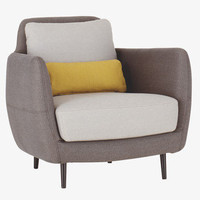 ELLA Grey Fabric Armchair - Armchairs - Habitat