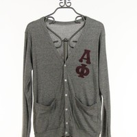 Alpha Phi Cardigan in Gray