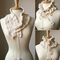 Victoriana Scarflette by Tickled Pink Knits PDF by AtelierTPK