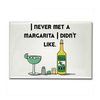 I Like Margaritas Rectangle Magnet by teewit4grownups- 284500517