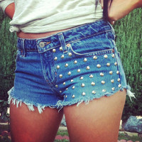 Made to Order US Sz 1-10 - Studded Cheeky Shorts