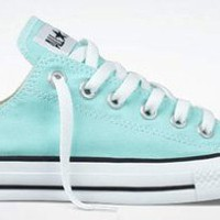 Amazon.com: Converse Chuck Taylor All Star Lo Top Aruba Blue Youth&#x27;s 13: Shoes