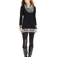 Style&co. Sweater, Long-Sleeve Snood-Neck - Womens Sweaters - Macy's