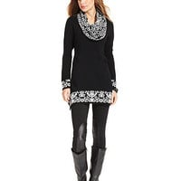 Style&amp;co. Sweater, Long-Sleeve Snood-Neck - Womens Sweaters - Macy&#x27;s