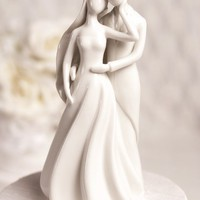Silhouette of Love Wedding Cake Topper