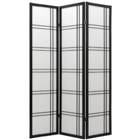 Oriental Furniture Premium Quality Unique Size, 6-Feet Double Cross Hatch Design Folding Shoji Priva