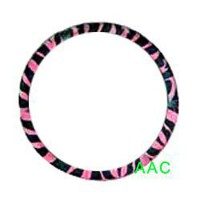 Animal Print Steering Wheel Cover - Zebra Pink