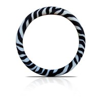 BDK SW-902-WH Zebra Steering Wheel Cover