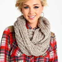 Metallic Knit Snoodie Scarf