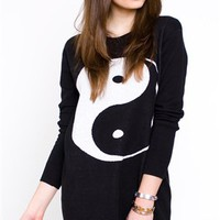 Yin Yang Sweater Dress- Mad Love Clothing- $119