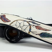 Dream Catcher Camera Strap No. 4c, Dreamcatcher, Feathers, dSLR or SLR