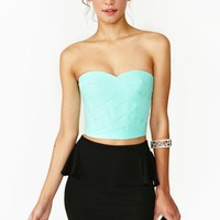 Borderline Bustier - Mint