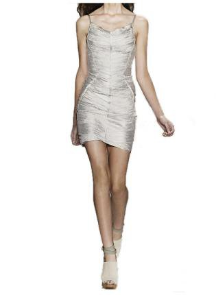 Bqueen Metallic Bandage Dress H217S