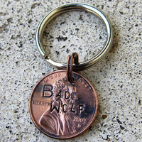 Dr Who Stamped Penny choice of keychain by DesignByAnyOtherName