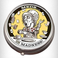 Mad Hatter Meds Pill Box | PLASTICLAND