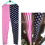 Elasticity Slim Fashion Sexy USA American Flag the Stars and Stripes Leggings