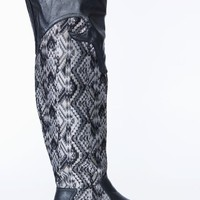 leather-southwestern-printed-riding-boot BLACK CHESTNUT - GoJane.com