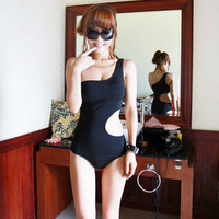 USA Via USPS New Trendy One Shoulder S-Shape One Piece Bathing Suit Swimsuit