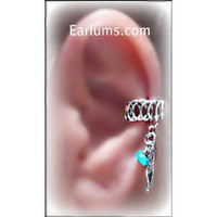 Amazon.com: Tribal Pierceless Ear Cuff Earlum with silver Feather and stone charm-Earlum: Everything Else