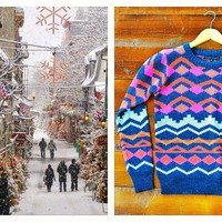 A Holiday Story: From ourchoix.com, this Fuschia Cosby Sweater is perfect to keep you warm.