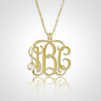 Monogram Necklace Personalized Mono.. on Luulla
