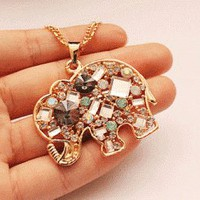 Crystal Elephant Fashion Necklace | LilyFair Jewelry