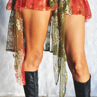 Gypsy Bustle Belt in Velvet and Lace